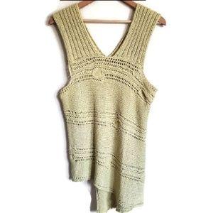 Sweaters - crochet boho knit sweater tank top size m